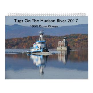 Tugs On The Hudson River 2017  100% Dann Ocean Calendar
