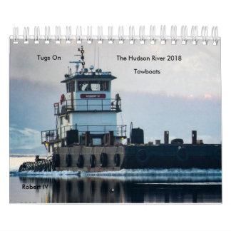 Tugs On The Hudson River Towboats 2018 Wall Calendar