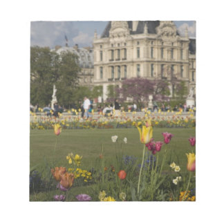 Tuileries Garden, Louvre, Paris, France Notepad