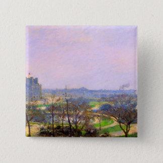 Tuileries Gardens in Paris art by Camille Pissarro 15 Cm Square Badge
