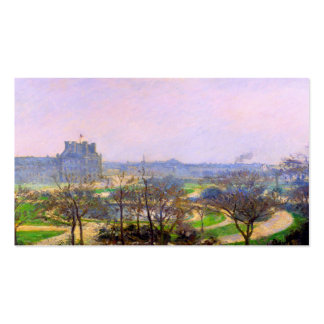 Tuileries Gardens in Paris art by Camille Pissarro Business Cards