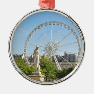 Tuileries gardens in Paris, France. Christmas Ornament