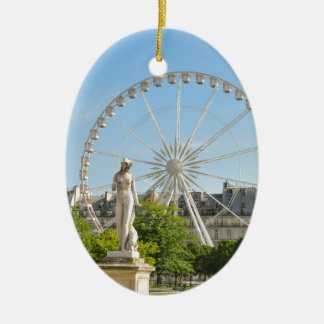 Tuileries gardens in Paris, France. Christmas Ornament