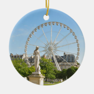 Tuileries gardens in Paris, France. Round Ceramic Decoration