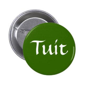 Tuit, Olive Green 6 Cm Round Badge