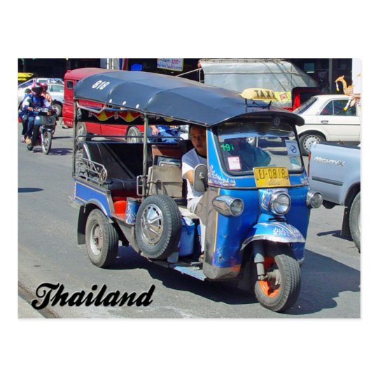 Tuk Tuk Thailand Post Card