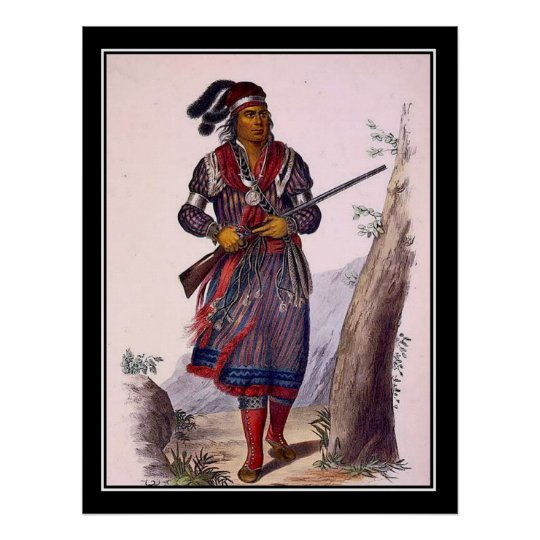 Tuko-See-Mathla Seminole Chief Vintage Poster
