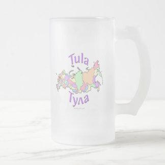Tula City Russia Map Frosted Glass Mug