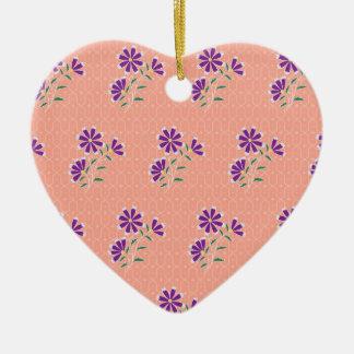 Tula Floral Batik Heart Ornament