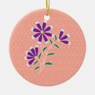 Tula Floral Batik Round Ornament