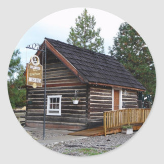 Tulameen BC Schoolhouse Museum Round Sticker