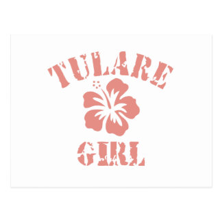 Tulare Pink Girl Postcard