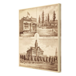 Tulare School, California Canvas Print