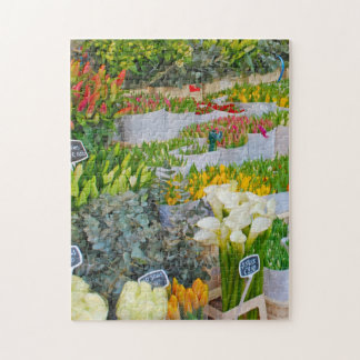 Tulip and Flower Market in Amsterdam Jigsaw Puzzle
