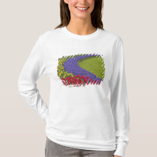Tulip and Grape Hyacinth and daffodil garden, T-Shirt