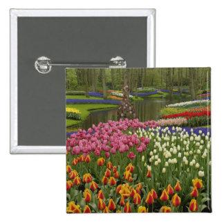 Tulip and hyacinth garden, Keukenhof Gardens, 15 Cm Square Badge