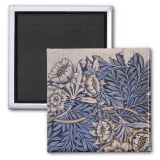 Tulip and Willow By William Morris Square Magnet