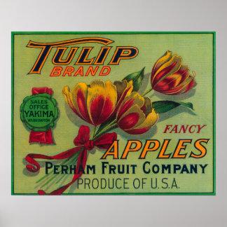 Tulip Apple Crate LabelYakima, WA Poster
