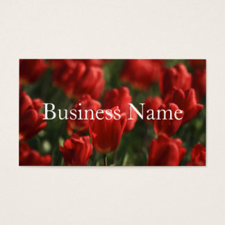 Tulip Bed  Business Card