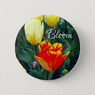 Tulip Bloom 6 Cm Round Badge