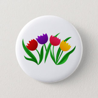 Tulip Blooms 6 Cm Round Badge