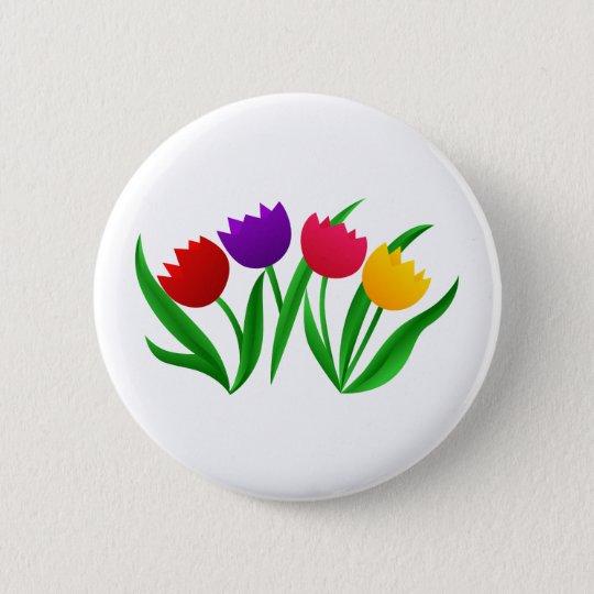 Tulip Blooms 6 Cm Round Badge