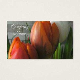 Tulip blooms business card