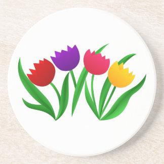 Tulip Blooms Drink Coasters