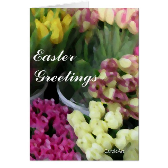 Tulip Bouquets Easter card