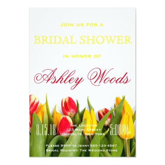 Tulip Bridal Shower Card
