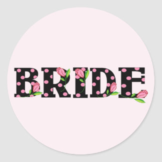 Tulip BRIDE Round Sticker