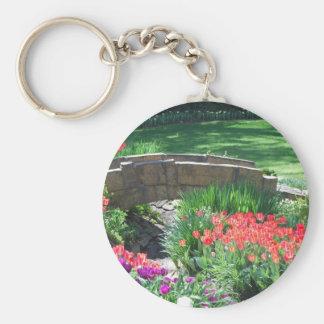 tulip bridge basic round button key ring