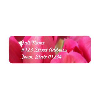 Tulip Bulbs Mailing Label Return Address Label