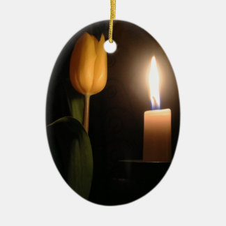 Tulip by Candlelight Ceramic Oval Decoration