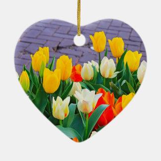 Tulip Ceramic Heart Decoration