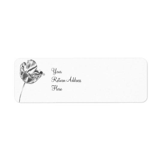 Tulip Chrome Return Address Label