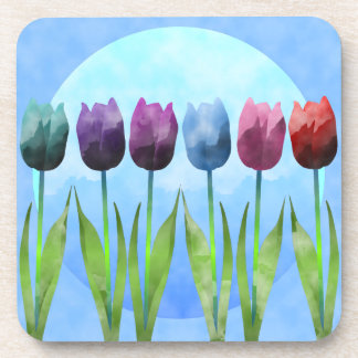 Tulip Cork Coaster