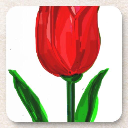 tulip drink coasters