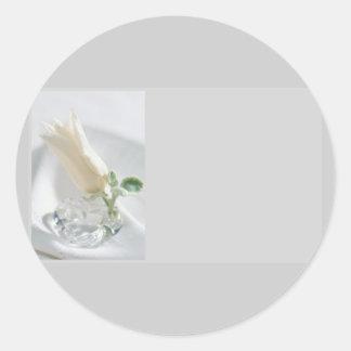 Tulip Crystal Round Sticker