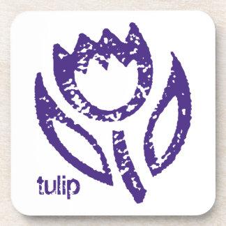 Tulip Deep Blue Coaster Set