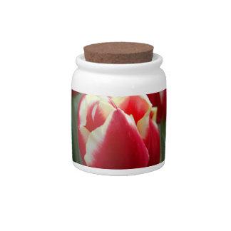 Tulip Design Candy Jar