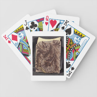 Tulip design printing block, 1875 (carved wood) bicycle playing cards