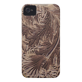 Tulip design printing block, 1875 (carved wood) iPhone 4 cover