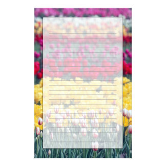 Tulip display garden in the Skagit valley, Stationery Design