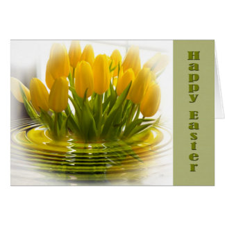 Tulip Easter Card Greeting Cards