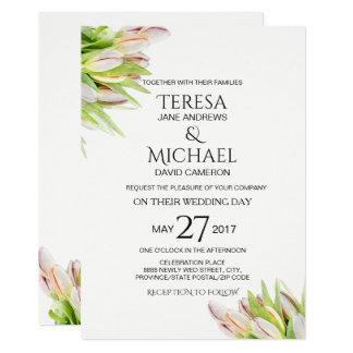 Tulip, Elegant, Wedding Card