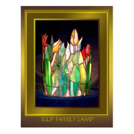 Tulip Family Lamp Design Post Card
