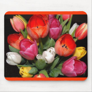 Tulip Fireworks Mouse Pad