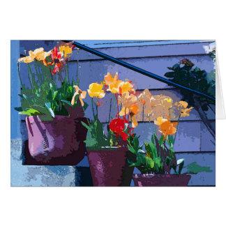 Tulip Flower Art Card