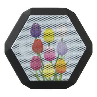 Tulip Flower Black Bluetooth Speaker